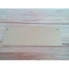 4mm thick MDF oblong plaque 205mm long
